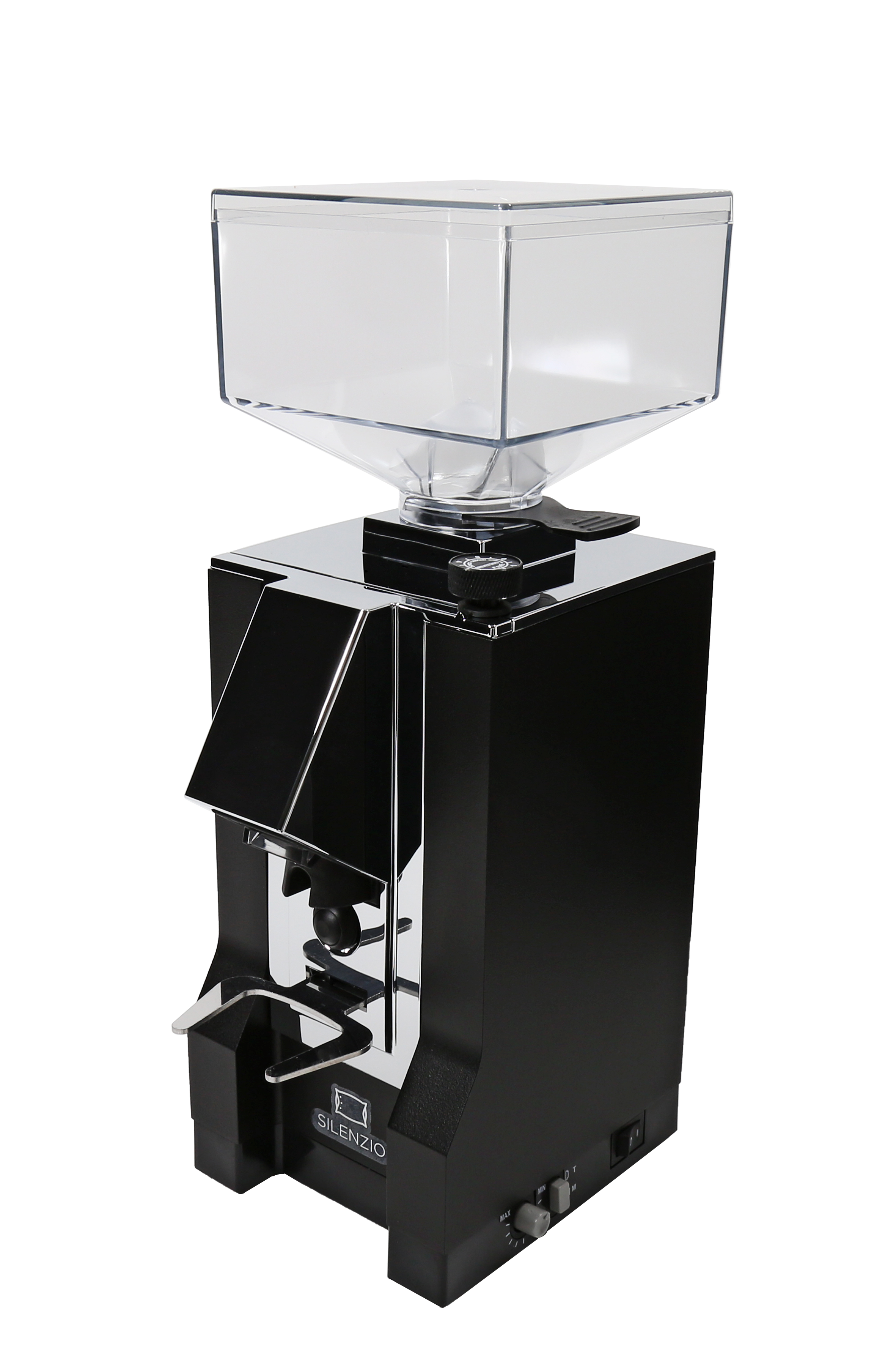 Eureka Mignon Silenzio Kaffeemühle (Mattschwarz/Chrom)